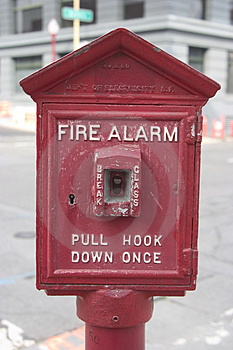 City Fire Alarm Stock Photography
