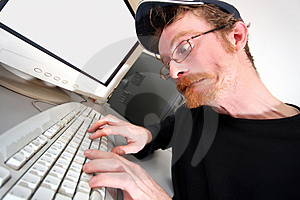 Mad programmer Stock Photography