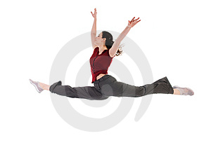 Dancing Female Royalty Free Stock Image