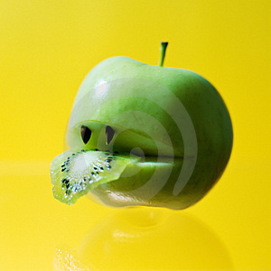 Hungry Apple Stock Photo - Image: 4717320