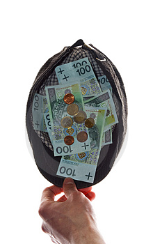 Money In Cap Stock Image - Image: 4719491