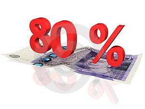 80 % Percentage Stock Photos - Image: 4722793