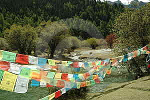 Tibetan Religion Supplies - Wind Horse's Banner Stock Photography - Image: 4728292