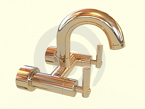 Golden Tap Royalty Free Stock Images - Image: 4729749