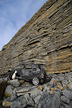 Car Wreckage Royalty Free Stock Images - Image: 4737169