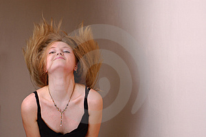Movement Of Head And Developing Hair Royalty Free Stock Photography - Image: 4737597