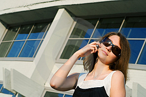 Businesswoman Talk To Phone Stock Photography - Image: 4738082