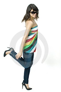 Spinning Girl Royalty Free Stock Images - Image: 4746829