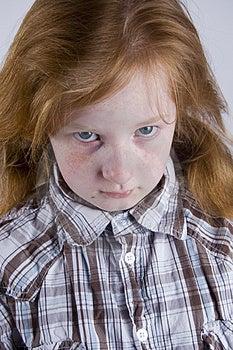 Sad Looking Girl Royalty Free Stock Image - Image: 4751876