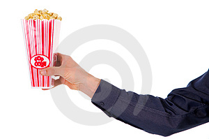 Popcorn movie Royalty Free Stock Photography