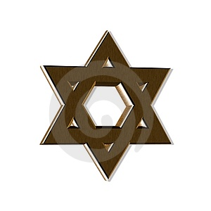Wooden Jewish Star Stock Photos - Image: 4754563