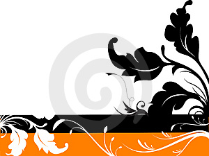 Vector Floral Silhouette Desig Stock Images - Image: 4754914