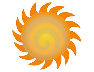 The Sun vector 3 Royalty Free Stock Photos