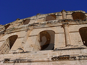 Coliseum El-Jem (Tunisia) Royalty Free Stock Images - Image: 4755409