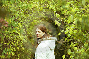 Girl Walking In The Park Royalty Free Stock Image - Image: 4756246