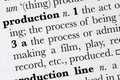 Production word dictionary def