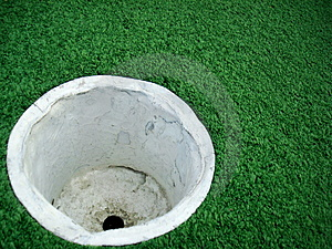 Empty Golf Cup Stock Photo - Image: 4760060
