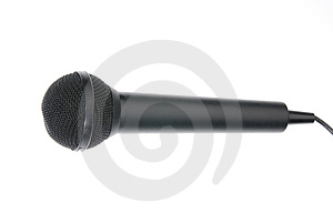 Black Microphone Stock Photo - Image: 4760140