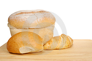 Bread And Croissant Royalty Free Stock Photography - Image: 4760817