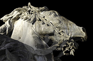 France; Lyon Or Lyons: Horse Statue Royalty Free Stock Image - Image: 4765326
