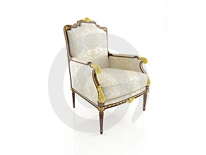 Classical Armchair 3D Computer Rendering Stock Photo - Image: 4766600