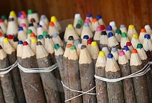 Natural Colored Pencils Stock Images - Image: 4773234