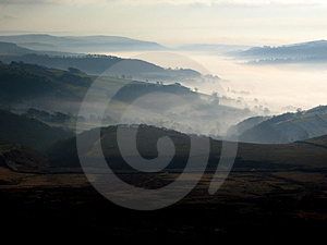 Mist in the valley Stock Photo