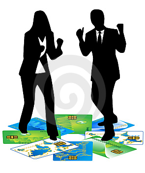 Banking Card And Business Peop Royalty Free Stock Image - Image: 4774026