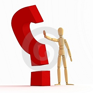 Question Mark Stopping 3 Stock Image