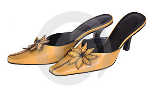 Tan Ladies Shoes,isolated Stock Photos - Image: 4775623