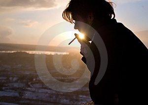Smoking In Sunlight Stock Images - Image: 4779354