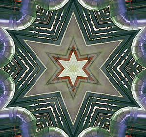 Abstract Six-final Star With Patterns. Stock Photo - Image: 4779850
