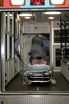 Interior of an ambulance Stock Photography