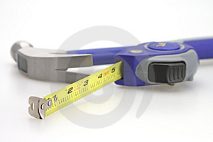 Hammer And Measuring Tape Stock Image - Image: 4785111
