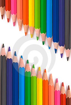 Colored pencils for school Royalty Free Stock Photos