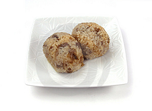 Two Rice Ball Royalty Free Stock Photo - Image: 4786505