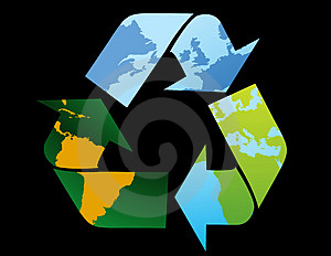 Recycle Symbol-World Map Royalty Free Stock Photo - Image: 4791345