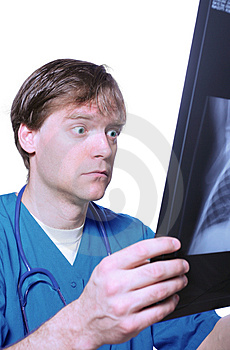 Shock Over X Ray Royalty Free Stock Photography - Image: 4794217