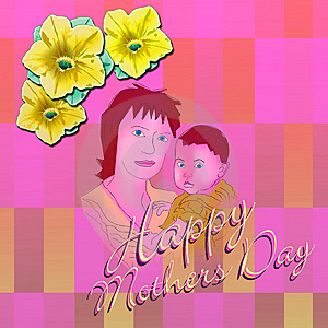 Happy Mothers Day 2 Stock Photo - Image: 4794280