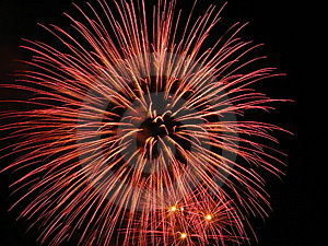 Fireworks in dark Stock Image