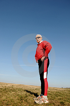 Athletic senior man Free Stock Image
