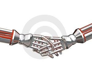 Cybog Hand Shake Stock Photos - Image: 4799073