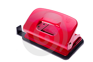 Red Hole Puncher Royalty Free Stock Photo - Image: 485765
