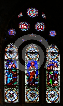 Religious Stained-glass Window Stock Images - Image: 489624