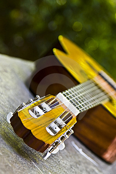 Guitar In Perspective Stock Image - Image: 4800491