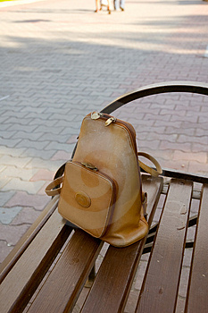 Lost Knapsack Royalty Free Stock Image - Image: 4802086