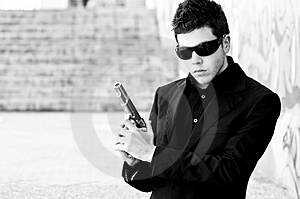 Secret agent ready Stock Images