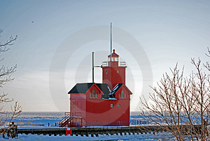 Frozen Harbor Stock Photo - Image: 4804570