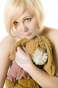 Girl With Hand-made Toy Royalty Free Stock Photography - Image: 4806247