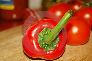 Sweet Chilli And Tomatos Royalty Free Stock Photo - Image: 4808035